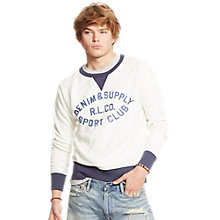 Buy Denim & Supply Ralph Lauren Graphic Sweater, Cream Online at johnlewis.com