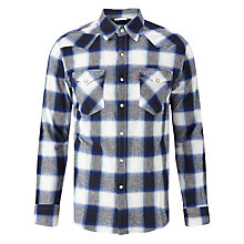 Buy Levi's Barstow Western Check Shirt, Ferula Dress Blues/Multi Online at johnlewis.com