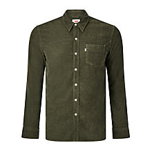 Buy Levi's Sunset One Corduroy Pocket Shirt, Olive Night Melange Online at johnlewis.com