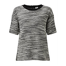 Buy Kin by John Lewis Textured Sweatshirt, Black/White Online at johnlewis.com