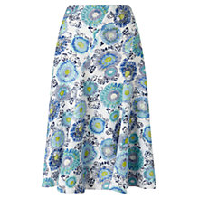 Buy East Kerala Floral Skirt, Blue Online at johnlewis.com