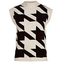 Buy Jaeger Laboratory Houndstooth Top, Black/Ivory Online at johnlewis.com