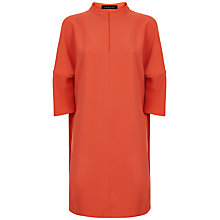 Buy Jaeger Crepe Kimono Sleeve Dress, Coral Pink Online at johnlewis.com