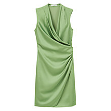 Buy Mango Wrapped Satin Dress Online at johnlewis.com