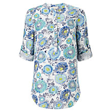 Buy East Kerala Floral Shirt, Blue Online at johnlewis.com