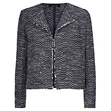 Buy Jaeger Textured Jacket, Midnight Online at johnlewis.com