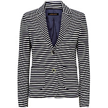 Buy Jaeger Ponte Stripe Blazer, Navy/Ivory Online at johnlewis.com