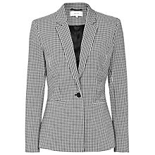 Buy Reiss Interest Fitted Blazer, Black/White Online at johnlewis.com