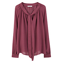 Buy Mango Openwork Trim Blouse Online at johnlewis.com