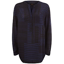 Buy Jaeger Patchwork Print Shirt, Blue Online at johnlewis.com