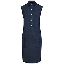 Buy Jaeger Chambray Pocket Dress, Blue Online at johnlewis.com