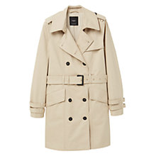 Buy Mango Double Breasted Trench Coat, Light Beige Online at johnlewis.com