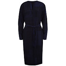 Buy Jaeger Patchwork Print Dress, Black/Blue Online at johnlewis.com