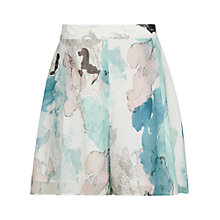 Buy Reiss Azalea Printed Shorts, Multi Green Online at johnlewis.com