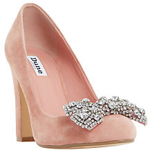 Buy Dune Bambi Block Heeled Embellished Court Shoes, Pink Online at johnlewis.com