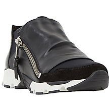 Buy Dune Edge Zip Fastened Trainers, Black Online at johnlewis.com