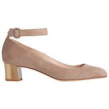 Buy L.K. Bennett Parka Block Heeled Court Shoe, Latte Online at johnlewis.com