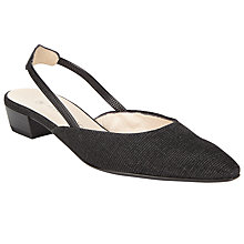 Buy Peter Kaiser Castra Block Heeled Open Back Court Shoes, Black Online at johnlewis.com