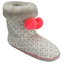 Buy John Lewis Fair Isle Pom Boot Slippers, Multi Online at johnlewis.com