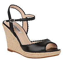 Buy L.K. Bennett Seve Wedge Heeled Sandals, Black Online at johnlewis.com