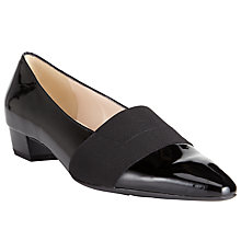Buy Peter Kaiser Lagos Pointed Toe Court Shoes, Black Patent Online at johnlewis.com