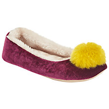 Buy John Lewis Bright Pom Ballet Slippers Online at johnlewis.com