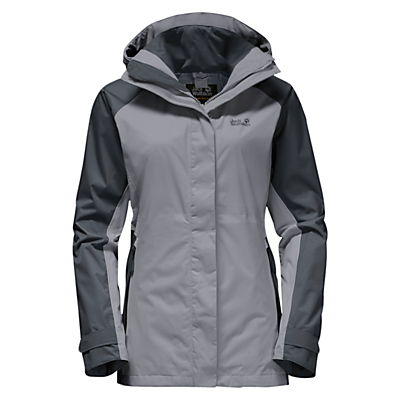 Jack Wolfskin North Slope Flex Waterproof Women's Jacket, Grey
