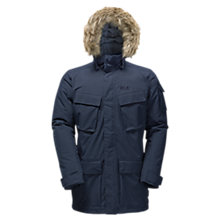Buy Jack Wolfskin Glacier Canyon Waterproof Insulated Men's Parka Jacket, Navy Online at johnlewis.com