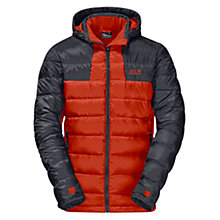 Buy Jack Wolfskin Greenland Down Insulated Men's Jacket, Orange Online at johnlewis.com