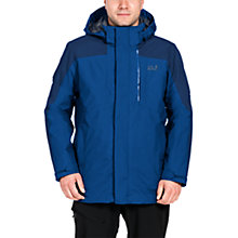 Buy Jack Wolfskin Viking Sky Waterproof 3 in 1 Men's Jacket, Blue Online at johnlewis.com