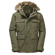 Buy Jack Wolfskin Point Barrow Waterproof Insulated Men's Parka Jacket, Burnt Olive Online at johnlewis.com