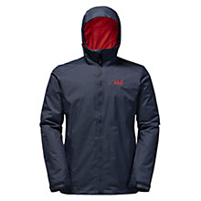 Buy Jack Wolfskin Northern Sky Winter Hardshell Waterproof Men's Jacket, Blue Online at johnlewis.com