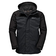 Buy Jack Wolfskin Echo Bay 3 in 1 Insulated Waterproof Men's Jacket, Black Online at johnlewis.com