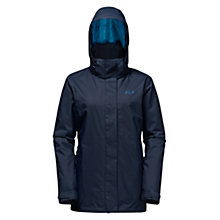 Buy Jack Wolfskin Arborg 3-in-1 Waterproof Women's Jacket, Blue Online at johnlewis.com
