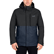 Buy Jack Wolfskin Nimrod 3 in 1 Waterproof Insulated Men's Jacket, Navy Online at johnlewis.com
