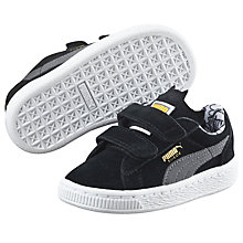 Buy Puma Children's Suede Batman Riptape Trainers, Black/Grey Online at johnlewis.com