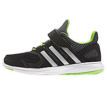 Buy Adidas Children's Hyperfast 2.0 Trainers, Black/Multi Online at johnlewis.com