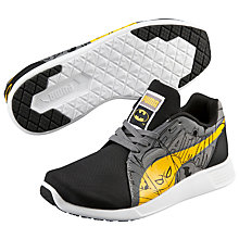 Buy Puma Children's Evo Bat Lace Trainers, Black/Grey Online at johnlewis.com