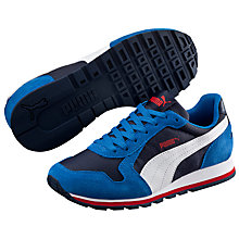 Buy Puma Children's ST Runner NL Trainers, Blue/Multi Online at johnlewis.com