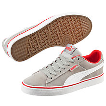Buy Puma Children's 1948 Vulc Trainers, Grey/Red Online at johnlewis.com