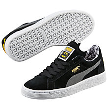 Buy Puma Children's Suede Batman Trainers, Black/Grey Online at johnlewis.com