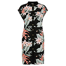 Buy Oasis Tropical Fancy Shirt Dress, Black/Multi Online at johnlewis.com