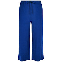 Buy Jaeger Linen Cropped Trousers, Bright Blue Online at johnlewis.com