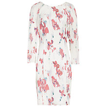 Buy Reiss Iris Printed Dress, Off White/Rose Online at johnlewis.com