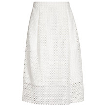 Buy Reiss Thea Lace Midi Skirt, Off White Online at johnlewis.com