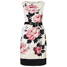 Buy Phase Eight Carrera Rose Dress, Ivory/Pink Online at johnlewis.com