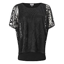 Buy Phase Eight Cecily Double Layer Top, Black Online at johnlewis.com