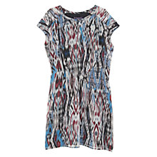 Buy Violeta by Mango Flowy Printed Dress, Wine Online at johnlewis.com