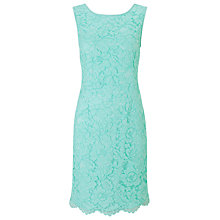 Buy Jacques Vert Petite Lace Shift Dress, Light Blue Online at johnlewis.com