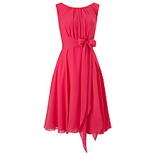 Buy Phase Eight Marti Chiffon Dress, Magenta Online at johnlewis.com